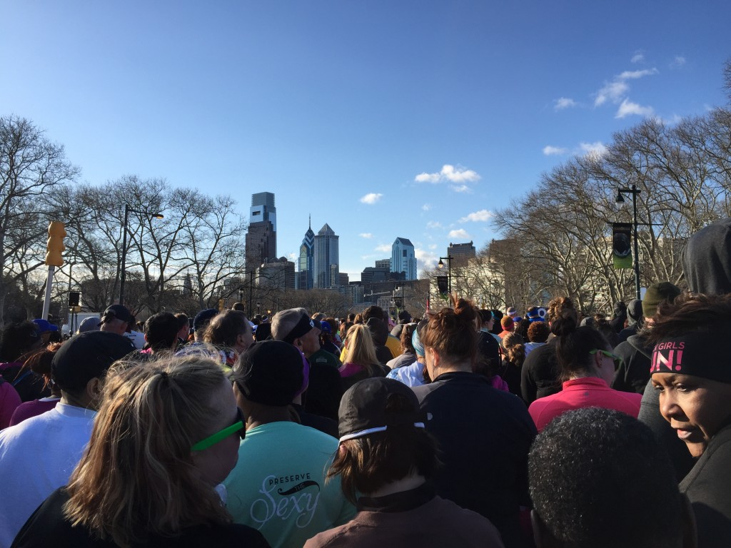 One of my favorite reasons to race in Philly is this view from the start line. Gorgeous!
