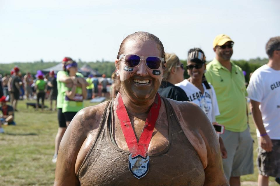 All muddy after the Warrior Dash!