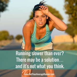 Running slower than ever? There may be a solution - and it's not what you think.