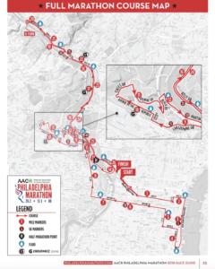 Philadelphia Marathon course map
