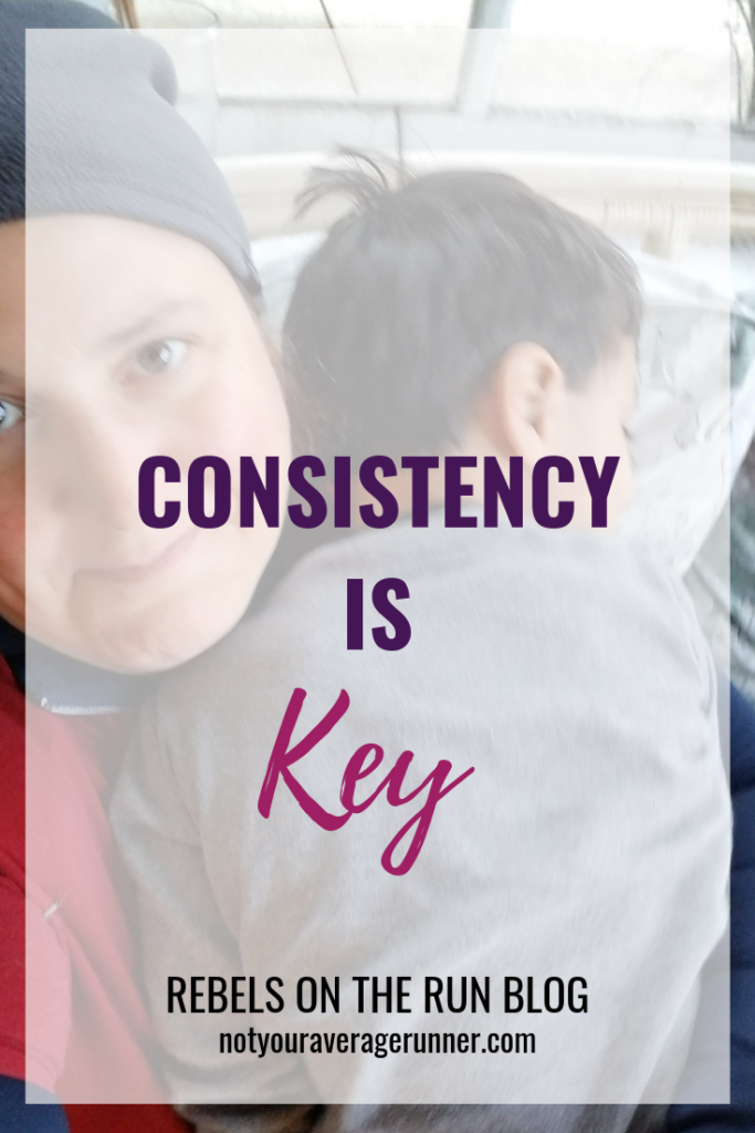 In this post I'm sharing what to do when you forget that consistency is key to reaching your goals and how to get back on track quickly. | Rebels on the Run | #consistency #goals #running | https://notyouraveragerunner.com/consistency-is-key/