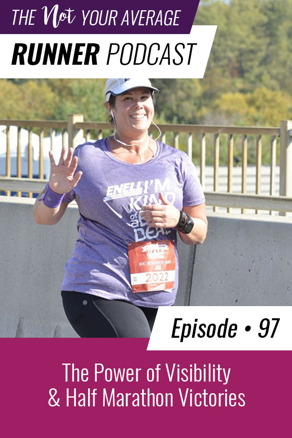 This week on the podcast I'm talking about why visibility matters and how seeing women of all sizes taking part in sports can give others the courage to do the same. I'm also sharing about our recent trip to Seattle for the Rock 'n' Roll half marathon. It was an absolute blast and all of the women kicked ass! | Not Your Average Runner | #running #visibility #inclusivity #halfmarathon | https://notyouraveragerunner.com/visibility-half-marathon-victories/